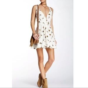 Free People For You Floral Print Fit & Flare Dress